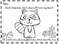 Kindergarten At Heart The Kissing Hand Packet Great Idea For Parent Child Reflection On First Day Of School