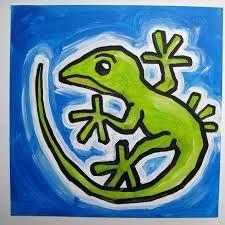lizard painting - Google zoeken