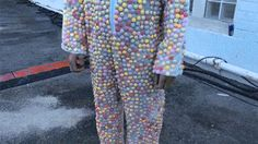 Mentos suit + Diet Coke dunk tank