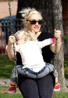 Gwen Stefani's Cutest Moments with Kingston and Zuma!: Swing with Me!