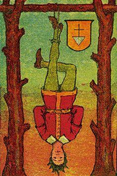 The Hanged Man - Knapp-Hall Tarot by J. A. Knapp