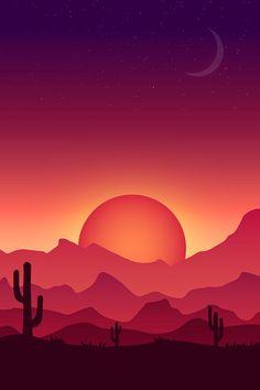 Como criar uma ilustração colorida da paisagem do vetor