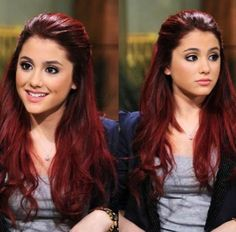 Ariana Grande- Love her hairstyle, especially the length and colour of her hair! She is so beautiful!
