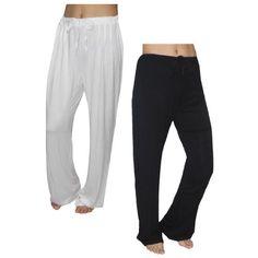 (Pack of 2) Womens Fall / Winter Pajama Pants 12/L Black