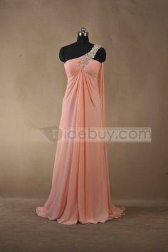 Unique A-Line Floor-Length One-Shoulder Prom/Evening Dress : Tidebuy.com