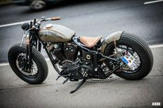 Bobber Inspiration - Harley Davidson Bobber By Freakie Motorcycles | Bobbers and Custom Motorcycles August 2015