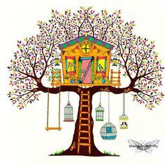 """Tree"" col. book author: Johanna Basford - the secret garden coloured ink 2017 #art #artist #artistoninstagram #artlovers #artnews #artoftheday #artwork #blackandwhite #contemporaryart #creative #drawing #design #fineart #illustration #instaartist #inspiration #instaartoftheday #originalartwork #photooftheday #artsanity #JohannaBasford #sketch #artsy #artoftheday #artstudio #instaartwork #instaartist #instaartoftheday #originalartwork #artistsofinstagram #models #fashion #color #coloringb..."