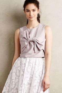Rachel Antonoff Bowtied Cropped Top #anthrofave