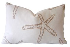 Coastal STARFISH Decorative Lumbar Pillow by CaliforniaLivinHome