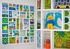 {decor trend} Shadow Boxes: Storage for the tiny stuff! Toy Display, Display Boxes, Storage Boxes, Art Storage, Display Case, Kids Bedroom Designs, Displaying Collections, Reggio Emilia, Boy Room