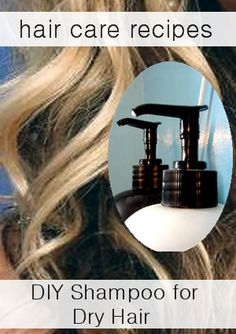 DIY Hair Shampoo Recipes ~ Natural Shampoo Recipes: How to make shampoo for Dry hair. Diy Hair Shampoo, Natural Hair Shampoo, Homemade Shampoo, Moisturizing Shampoo, Natural Hair Care, Natural Hair Styles, Homemade Hair, Natural Shampoo Recipes, Natural Cleaning Products