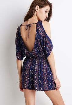 Tribal Print Open-Shoulder Romper   Forever 21 - I will be wearing this shortly ;)