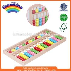 2015 New lovely education toy Ju wood abacus 71/ASTM standard
