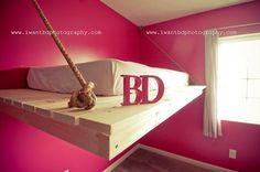 floating bed bunk loft hanging daybed twin diy ana white bumper crop girl girly glamping themed bedroom www.iwantbdphotography.com