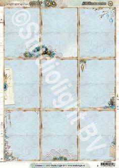 Studio Light serie:  ---Winter Memories---  ATC/ Pocket Letter