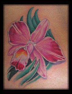 e5a451d161256 Tattoos - Aaron Goolsby - Cattleya Orchid Orchid Tattoo Meaning, Orchid  Flower Tattoos, Cattleya