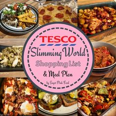 Tesco Slimming World Shopping List & Meal Plan. 7 Day Slimming World Meal plan with full shopping list Slimming World Meal Planner, Slimming World Tesco, Slimming World Shopping List, Slimming World Diet Plan, Slimming World Recipes Syn Free, Slimming Workd, Shopping Lists, Easy Slimming World Meals, Sw Meals