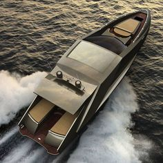 Lamborghini Motoryacht by Mauro Lecchi and Fenice Milano. and powered by a pair of Motori Marini Lamborghini or alternatively two Volvo Penta IPS 900 diesel engines Luxury Sports Cars, Sport Cars, Vs Sport, Yacht Design, Speed Boats, Power Boats, Ferrari, Lamborghini Concept, Lamborghini Cars
