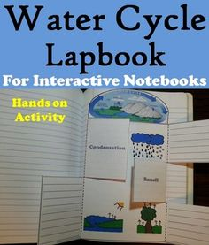 This water cycle lapbook is a fun hands on activity for students to use in their interactive notebooks. Students may research different facts about each stage of the water cycle and write what they find on the provided blank lines. This lapbook also doubles as a coloring book, as students may color in each stage of the water cycle.