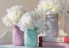 Craft Painting - DIY Chalk Painted Mason Jars