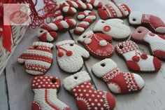 Winter Socks and Mittens Cookies