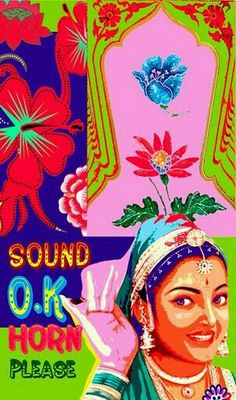 Sound Horn Please :) Indian Illustration, Bollywood Posters, Day Glow, Truck Art, India Art, High Art, Vintage Labels, Popular Culture, Giclee Print