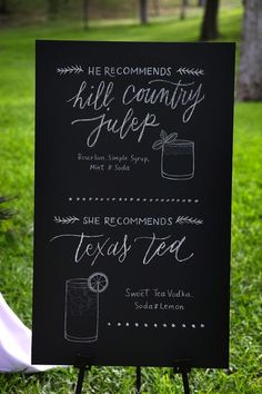 Adorable blackboard display!