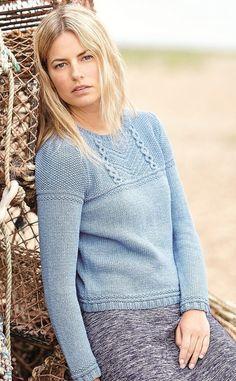 Пуловер спицами Kelsale в стиле свитеров гернси.
