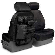 Ballistic Black tactical seat covers