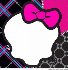 Convite Caveira do Monster High – Convite Infantil