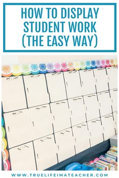 Learn how to easily display and change out student work. Classroom Door, Primary Classroom, Classroom Organization, Classroom Management, Organizing, First Grade Math, Second Grade, Teacher Blogs, Teacher Pay Teachers
