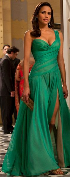 Paula Patton,,,love this dress maybe as a bridesmaid dress with less cleavage though....