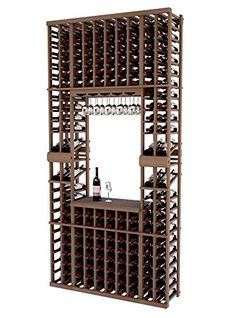 Vintner Series Wine Rack Tasting Center with Two Display Rows for 172 Bottles  8 Ft  Mahogany with Light Stain  Glass Rack Option * Continue to the product at the image link. (This is an affiliate link) #FreestandingWineRacksCabinets