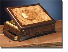 """Dark Continent"" Valuables/Document box in Wenge Spalted Beech Huon Pine Ebony Camphor Laurel and suede."