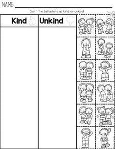 Kindness Activities: Teaching Kids To Be Kind Teaching Kindness, Kindness Activities, Preschool Activities, Emotions Preschool, Social Skills Activities, First Day Of School Activities, Teaching Social Skills, Classroom Behavior, Classroom Rules