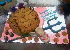 Gianna's Percy Jackson cake
