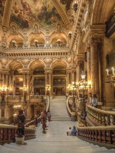 Opera House in Paris. I think its officially called Palais Garnier. Take a look at my other Paris pictures. Baroque Architecture, Beautiful Architecture, Beautiful Buildings, Architecture Design, Beautiful Places, Opera House Architecture, Casa Steampunk, Paris Opera House, Decoration Entree