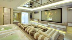sala de tv com telão - Pesquisa Google