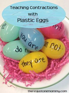 Plastic Eggs: Contractions | There's Just One Mommy