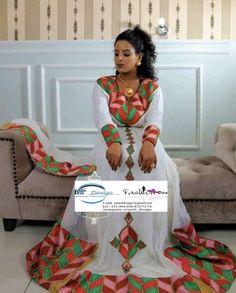 Ethiopian Traditional Dress, Traditional Dresses, Habesha Kemis, Ethiopian Dress, African Fashion, Women's Fashion, Modern Closet, Closet Designs, African Attire