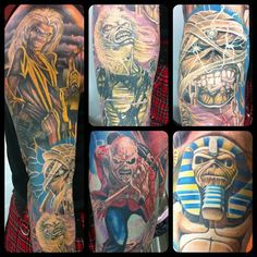 Iron Maiden, sleeve tattoos, Johnny's amazing Eddie sleeve