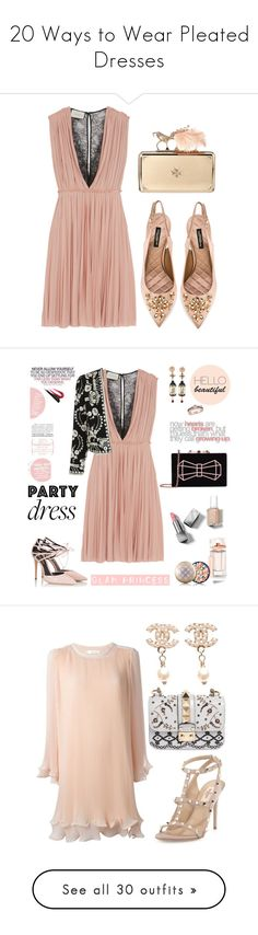 """""""20 Ways to Wear Pleated Dresses"""" by polyvore-editorial ❤ liked on Polyvore featuring waystowear, pleateddresses, Gucci, Dolce&Gabbana, Alexander McQueen, Fratelli Karida, Ted Baker, Topshop, Burberry and Essie"""
