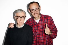 Me and Woody Allen at my studio.