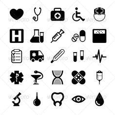 Medical Icons Set — Photoshop PSD #tooth #drop • Available here → https://graphicriver.net/item/medical-icons-set/5878161?ref=pxcr