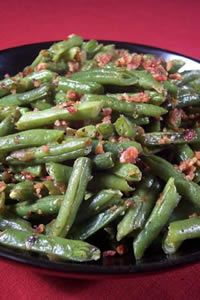 sweet and sour green beans----  these are so awesome with fresh green beans!!!