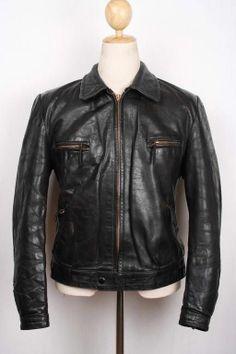Vtg 1940s WWII Horsehide Leather Cyclist Jacket German LUFTWAFFE Hartmann Lrg 42