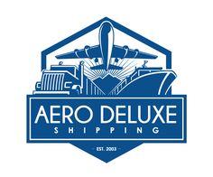 Aero Deluxe Shipping Company Logo Design.