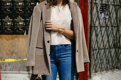 Paula Mendoza bracelet + Rag & Bone top / coat