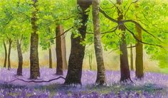 """Lavender Field"" (2014), David Najar http://www.parkwestgallery.com/artwork-detail?ArtID=376337"