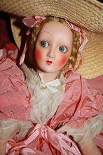 Minty and Original 1930's Salon Lady Lenci type Boudoir  Doll